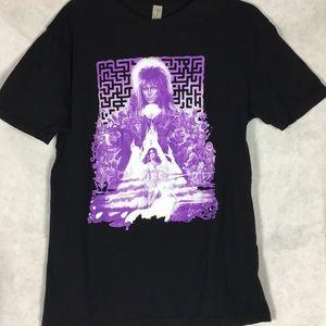Rock me David Bowie labyrinth black tee size large